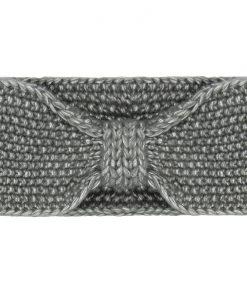 Gebreide-Grijze-Haarband-one-size-kopen-bij-Sjaalskopen-gemeleerde-stof-zachte-grijze-hoofdband-voorkant-strik-gemeleerd