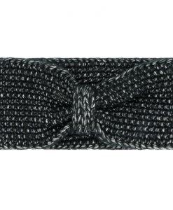 Gebreide-Zwarte-Haarband-one-size-kopen-bij-Sjaalskopen-gemeleerde-stof-zachte-zwarte-hoofdband-voorkant-strik-gemeleerd