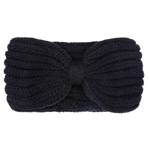 Gebreide-Zwarte-Haarband-one-size-kopen-bij-Sjaalskopen-warme-hoofdband-zwart-voorkant
