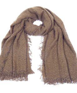 Grove-sjaal-bruin-grof-geweven-zachte-sjaal