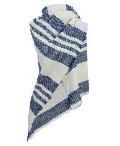 Omslagdoek-gestreepte-omslagdoek-blauw-wit-kopen-bij-Sjaalskopen.nl-omslagdoek-acryl-omgeslagen