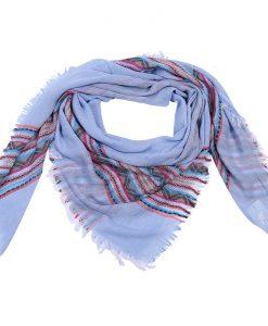 Print-sjaal-blauw-met-lente-kleuren-kopen-bij-Sjaalskopen.nl