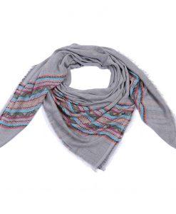Print-sjaal-grijs-met-lente-kleuren-kopen-bij-SJaalskopen.nl